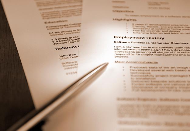 Resume focused on work experience