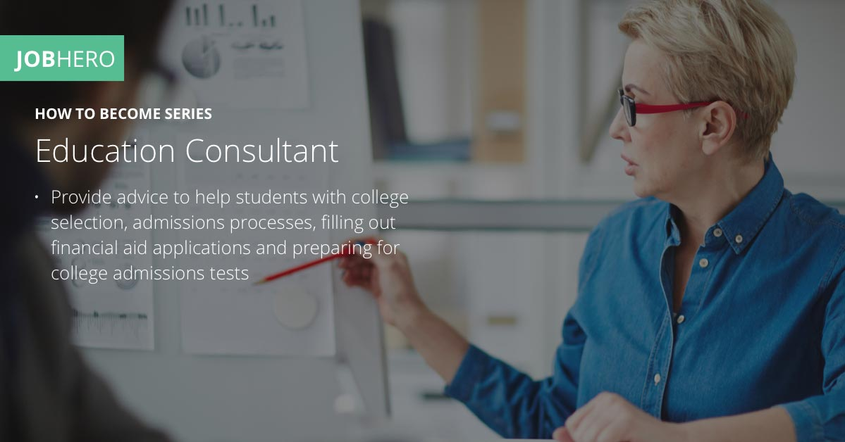 How To Become An Education Consultant Jobhero