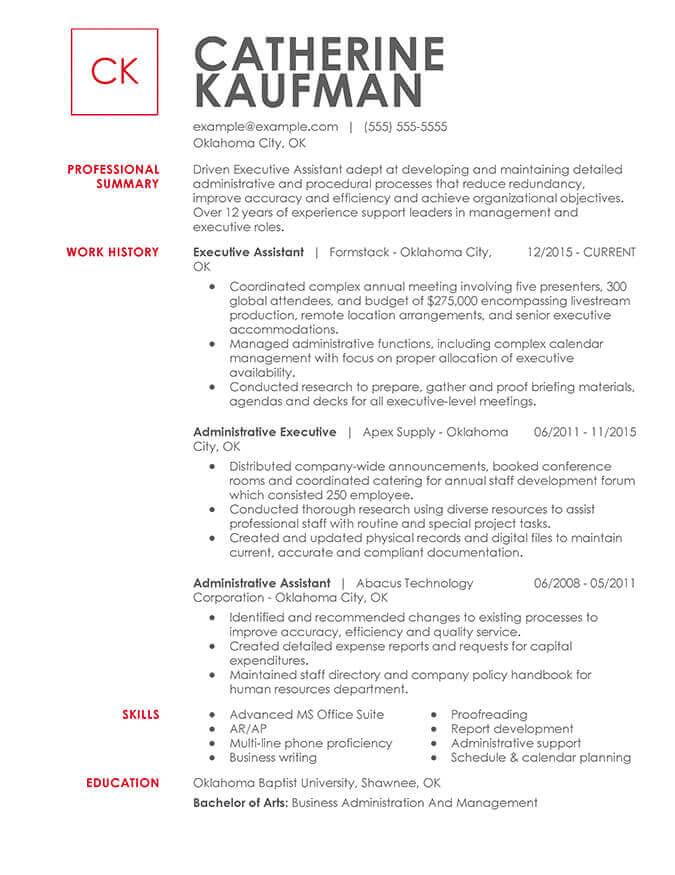 Functional Resume Builder from www.jobhero.com